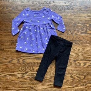 Old Navy Unicorn Dress And Black Pants